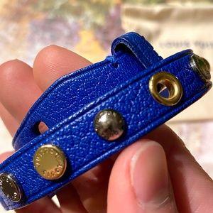 LOUIS VUITTON Goatskin Spike It Wrap Bracelet 17